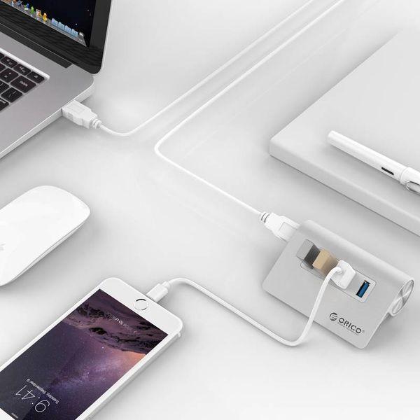 Orico 4 Port USB 3.0 Hub Aluminium Hub 4 ports haute vitesse Mac style 5Gbps