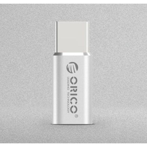 Orico Micro USB to Type-C Converter Adapter - Aluminum Silver
