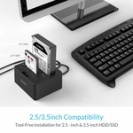 Orico Baie Duale SATA vers USB 3.0 Station d'accueil pour disque dur externe avec double / fonction clone