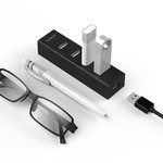 Orico USB 2.0 hub met 4 USB-A poorten - 20cm kabel - matzwart