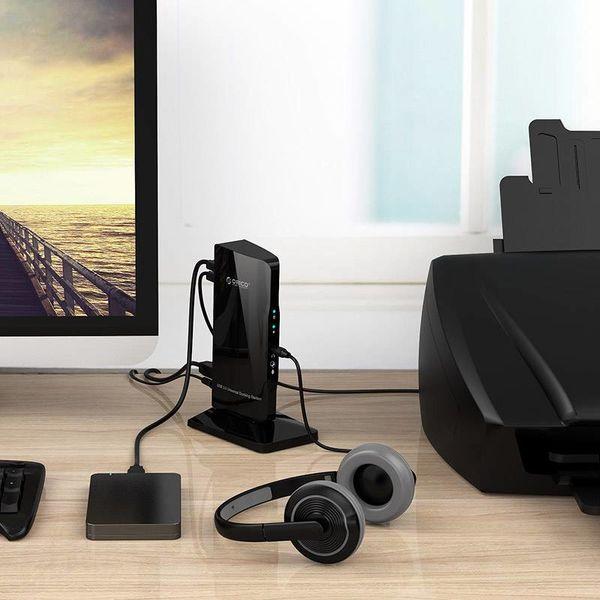 Orico Universal USB 3.0 Docking Station mit HDMI, DVI und Gigabit Ethernet