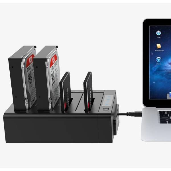 Orico 4 Bay SATA zu USB 3.0 externer HDD-Dockingstation mit doppeltem / klonen Multifunktionsschacht