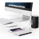 Orico 4 Port câble USB 3.0 Hub Tour 2x chargeur intelligent Chargeur inclus 1m USB 3.0 - noir