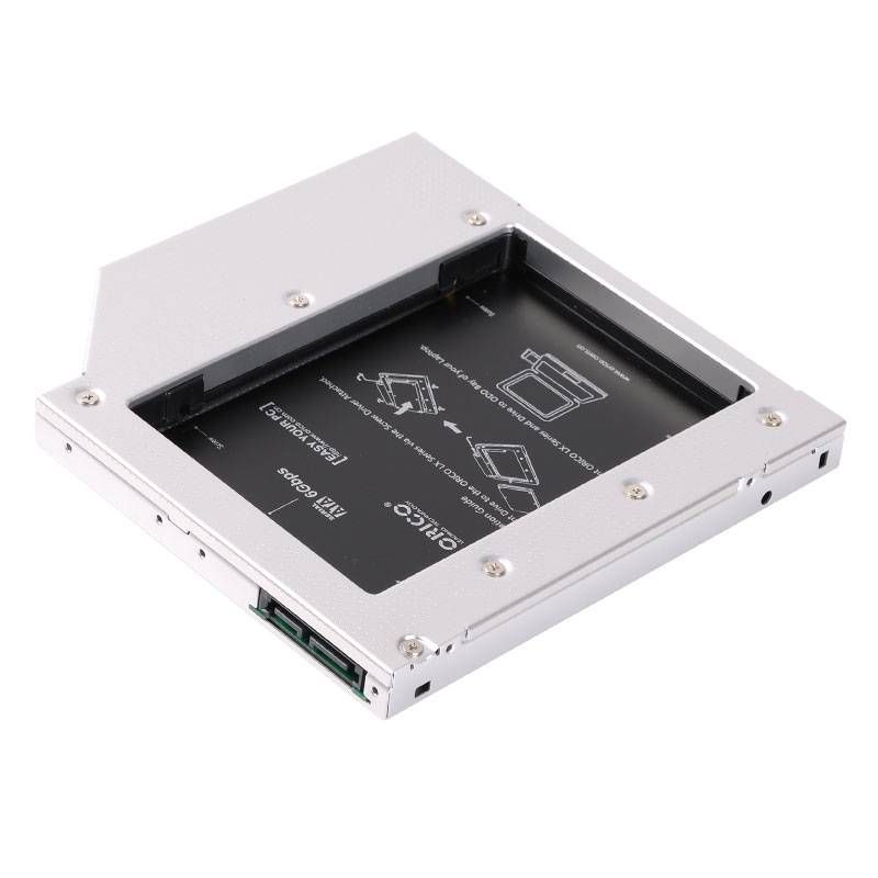 "ORICO 2.5/"" Hard Drive Caddy for 12.7mm Laptop CD Optical Drives 2.5/"" SSD White"
