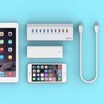 Orico Alu. 7 Poorten USB3.0 met 3 Oplaadpunten voor Smartphone