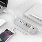 Orico Alu. 7 Ports USB3.0 with 3 Charging Points for Smartphone