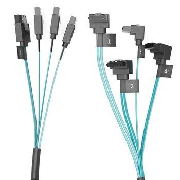 Orico SATA 3 Combi câble 4 en 1 High End - Pour le disque dur / SSD - Bleu Noir