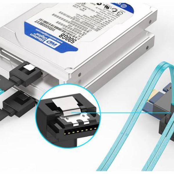 Orico SATA 3 Combi kabel 4 in 1 High End - Voor HDD/SSD - Blauw met Zwart