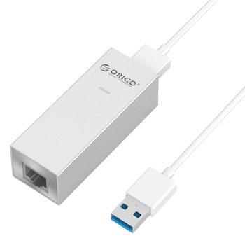 Orico Aluminium USB3.0 auf Gigabit Ethernet Adapter - Silber