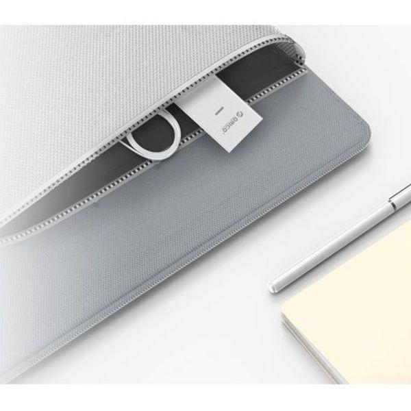 Orico aluminium USB3.0 pour Gigabit Ethernet Adapter - type A de type A / câble de type C - argent