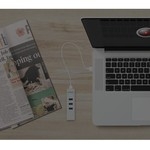 Orico Aluminium USB3.0 zu Gigabit Ethernet Adapter - Typ A zu Typ A / Typ C Kabel - Silber