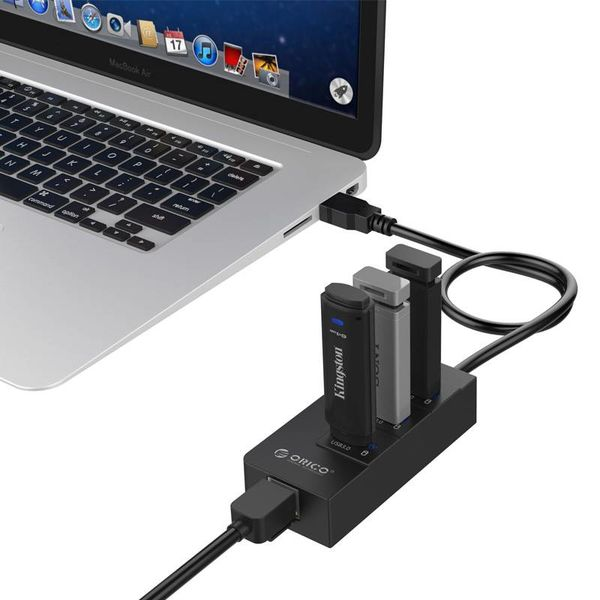 Orico USB3.0 Hub mit Gigabit Ethernet Konverter