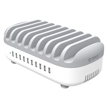 Orico 120 W Multi-Ladegerät-Dockingstation 10-Port-USB-Ladestation