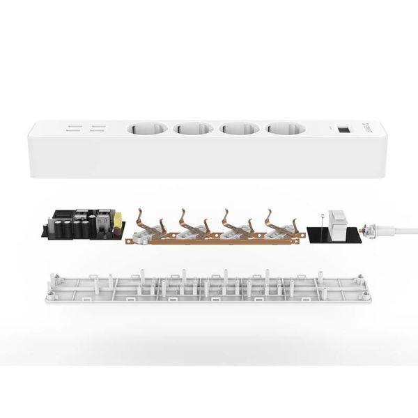 Orico Elektrische Steckdosenleiste und Überspannungsschutz 2500W / 20W 1,5m USB-Kabel Kindergesicherte und geerdeter