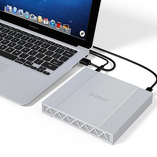 Orico Aluminium 2,5 pouces USB3.1 double baie RAID Type C 10Gbps Disque dur externe Boîtier