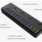 Orico Multifunktionaler USB 3.0-Hub mit 12 Anschlüssen und BC 1.2-Ladeanschlüssen