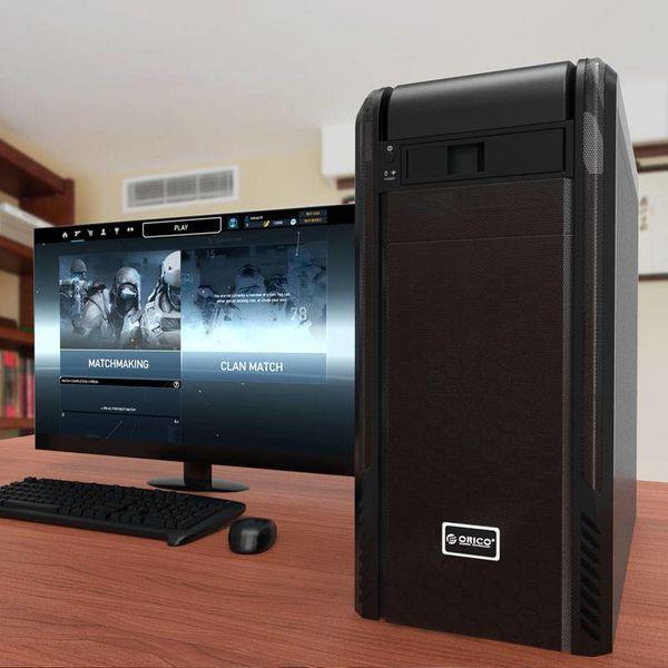 Orico 3.5 inch SATA rack voor 5.25 Bay interne harde schijf bevestiging Bracket Adapter - zwart
