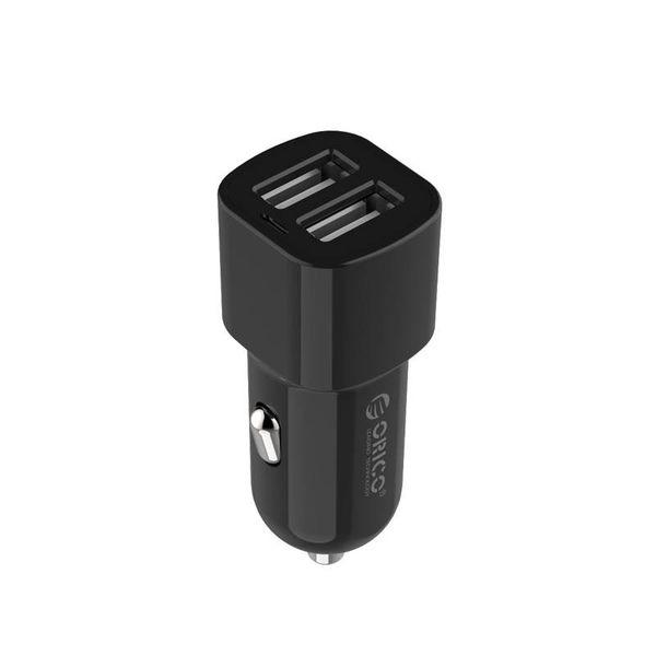 Orico 2-Port USB-Autoladegerät 12V / 24V 3.4 A max 17W Intelligent IC - Schwarz