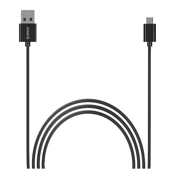 Orico Micro-USB-Ladekabel Fast Charge und Datenkabel - 1 m schwarz
