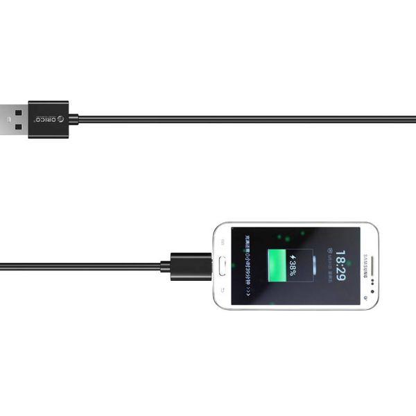 Orico Micro câble de charge USB de charge rapide et câble de données - 1 mètre noir