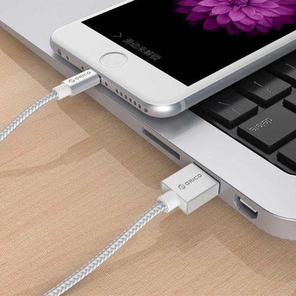 Orico 1 mètre d'Apple MFI certifié par câble Foudre Pour Iphone et Ipad tressé en aluminium