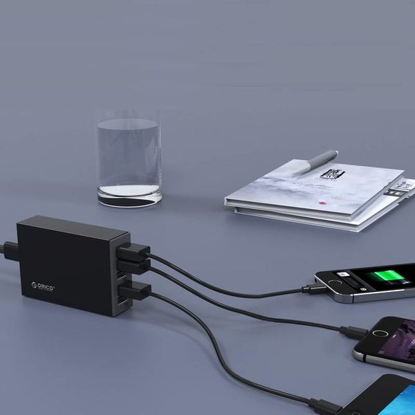 Orico 5-Port USB Smart Desk Ladegerät 8A / 40W - Schwarz