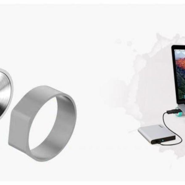 Orico Aluminium USB3.0 Hub mit 7 Anschlüssen - Kompatibel mit Typ A und Typ C - Inkl. Netzteil - Laptopständer - VIA-Chip - 5 Gbit / s - Mac-Stil - Silber