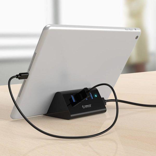 Orico Support pour smartphone et tablette HUB USB3.0 4 ports - Noir