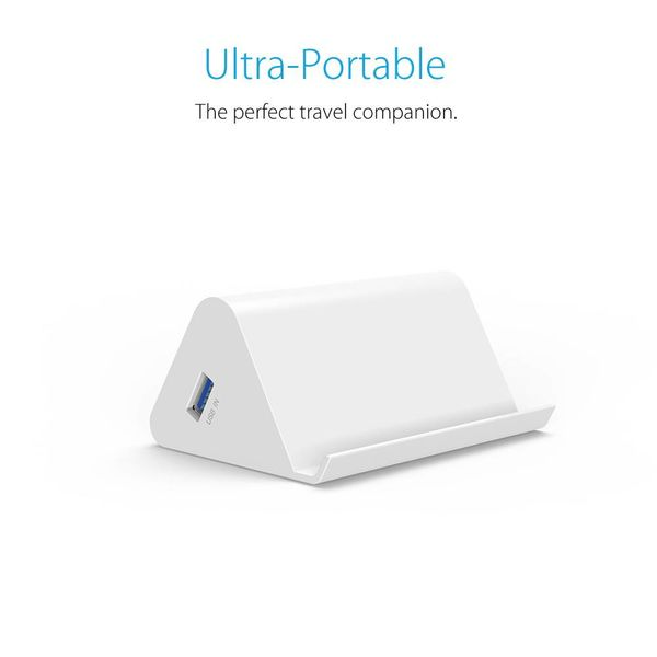 Orico Support pour concentrateur / téléphone et tablette USB3.0 - 4x USB - Blanc