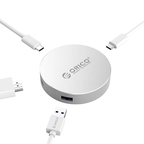Orico USB Typ C zu HDMI Konverter mit USB-Typ-C-1x und 1x USB 3.0 Hub