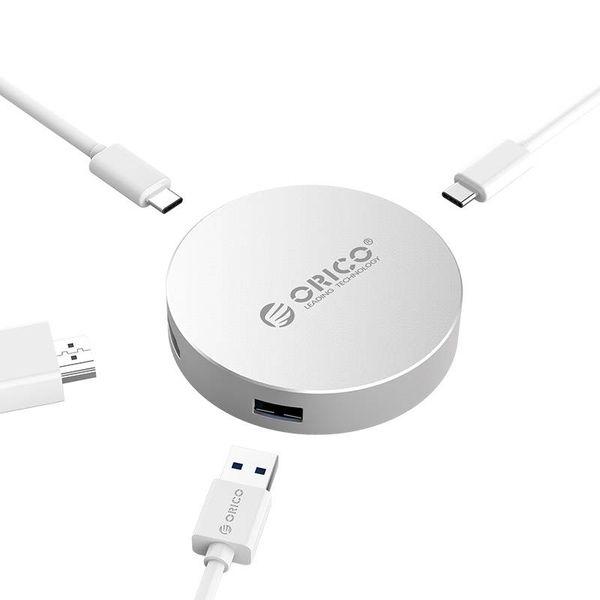 Orico USB Type C naar HDMI converter met 1x USB Type C en 1x USB 3.0 hub