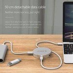Orico Convertisseur USB Type C vers HDMI avec 1x USB Type C et 1x hub USB 3.0