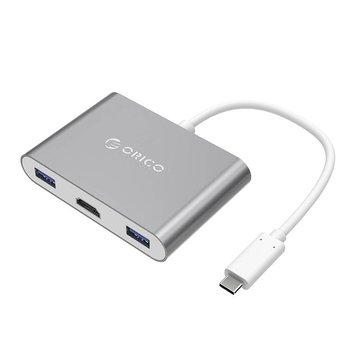 Orico Alu USB Type-C hub met HDMI Converter voor MacBook, - Sky Grey