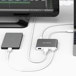 Orico Aluminium hub USB de type C pour MacBook, 1x USB Type C, 3x USB 3.0 1x HDMI Converter - Sky gris