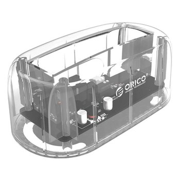 Orico Transparent-Dockingstation für 2,5 oder 3,5-Zoll-Festplatte - USB 3.0