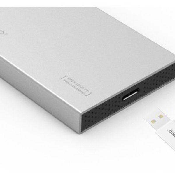 Orico 2,5 inch boîtier d'unité de disque dur - aluminium - vis - SSD / HDD - USB3.0 - argent