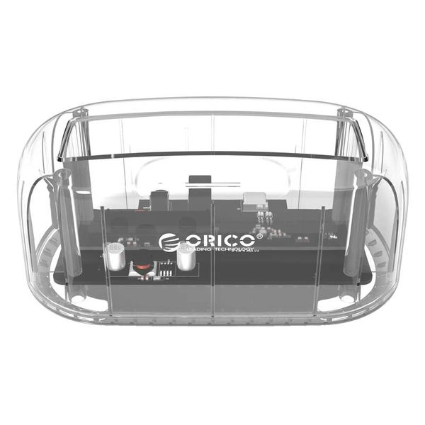 Orico Transparante Docking Station met Type-C aansluiting voor 2.5 of 3.5 inch Harde Schijf - USB3.0 - 5Gbps -HDD/SSD - SATA