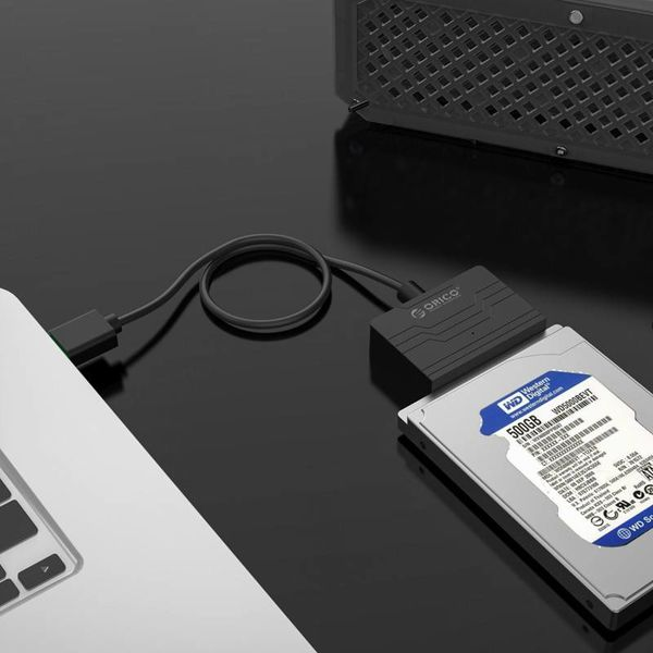 Orico USB3.0 to SATA III Hard Drive Adapter - 2.5 inch HDD / SSD - 5Gbps - UASP - Cable length 30cm - Black