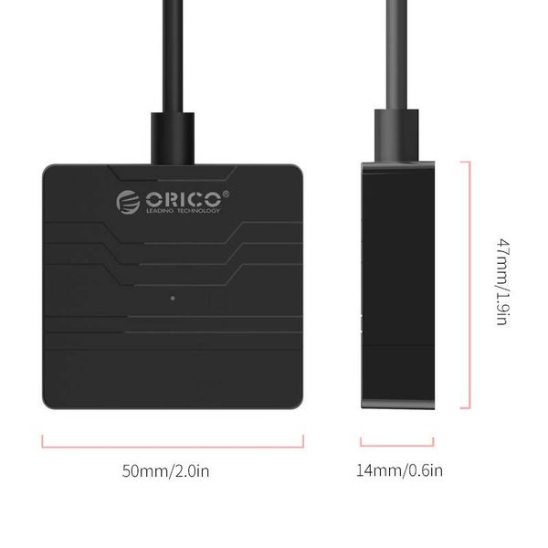 Orico Hard Drive Adapter USB3.0 zu SATA III - 2,5-Zoll-HDD / SSD - 5 Gbps - UASP - Kabellänge 30 cm - schwarz