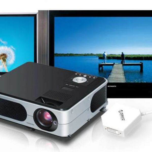Orico Displayport auf HDMI, DVI und VGA-Adapter - 17 cm - weiß