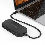 Orico 3-in-1 Type-C hub with USB 3.0 Type-A, Type-C PD and VGA ports - Power Delivery - IC chip - Cable length 30 CM - Black