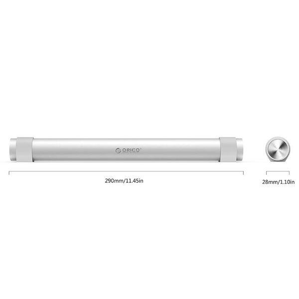 Orico plaque tournante de type C USB3.0 avec sept portes de type A - PD type C 1x - 5Gbps - Support ordinateur portable - argent