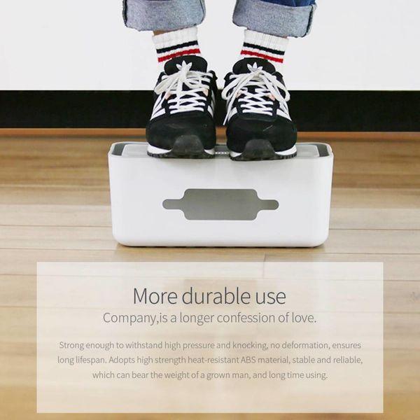 Orico Multifunktionale Steckdose Schutz - Smartphone Halter - Kabelmanagement - Extra Sicherheit für Kinder / Haustiere - Hitzebeständiges ABS-Material - Weiß / Grau