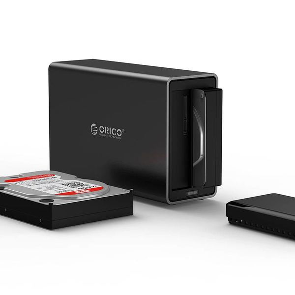 Orico magnetic 2 Bay Type-C Hard Drive Enclosure 3.5 inch SATA HDD / SDD Docking Station black