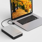 Orico Aluminum 3.5 Inch Hard Drive Enclosure - USB 3.0 - HDD / SSD - SATA I, II, III - 5Gbps - Incl. Power Adapter & Data Cable - Silver