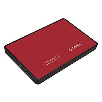 Orico Hard Drive Enclosure 2.5 inch - HDD / SSD - USB3.0 - Metal & Plastic - Red
