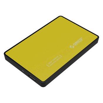 Orico Boîtier pour disque dur 2,5 pouces - HDD / SSD - USB3.0 - métal et en plastique - Jaune