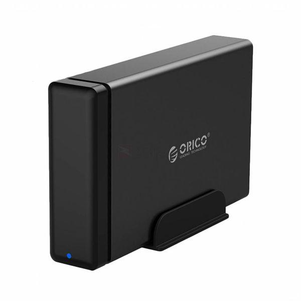 Orico Boîtier de disque dur à fermeture en douceur de type C - Station d'accueil SATA HDD / SDD 3,5 pouces - noir