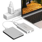 Orico USB adaptateur de type C - Multifonctionnel - 5in1 - 4k HDMI - VGA - Ethernet - Power Delivery - USB 3.1 gen1 - 5Gbps