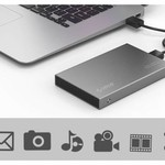 Orico Aluminium 2.5 inch Harde Schijf Behuizing - HHD/SSD - USB3.0 - 5Gbps - SATA III - VIA-chip - Incl. Schroeven & Schroevendraaier - Donkergrijs